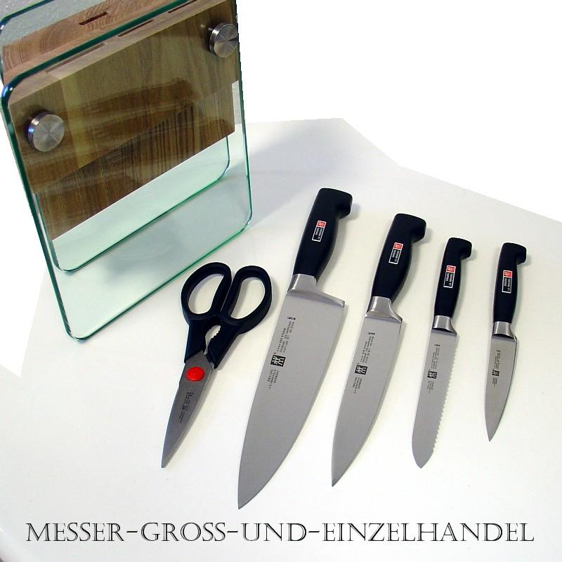 zwilling messer messerblock kochmesser four star 274 99 ebay. Black Bedroom Furniture Sets. Home Design Ideas