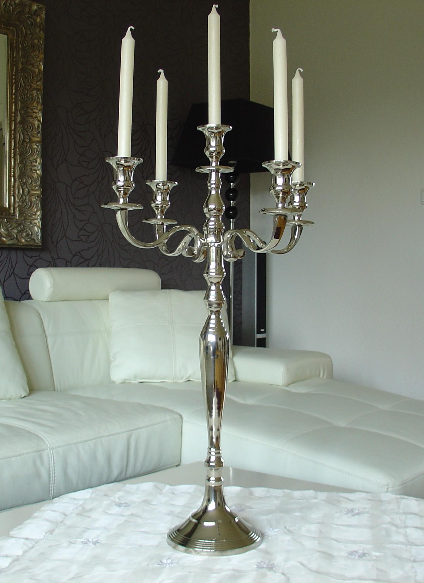 kerzenleuchter kerzenst nder 80 cm big event mit 4 x. Black Bedroom Furniture Sets. Home Design Ideas