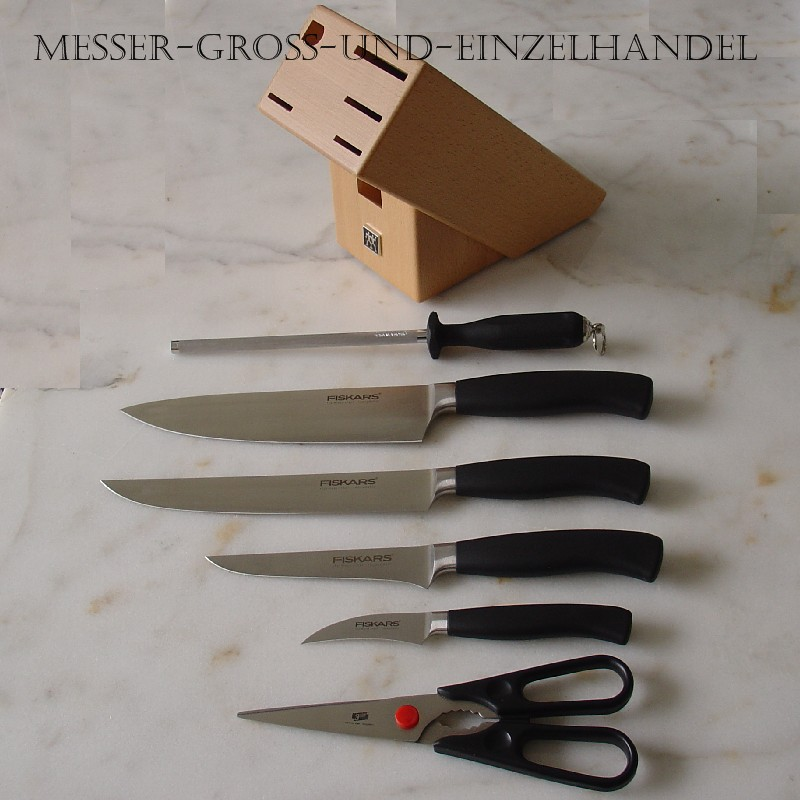 zwilling messerblock fiskars profi messer kochmesser solingen sonderaktion ebay. Black Bedroom Furniture Sets. Home Design Ideas