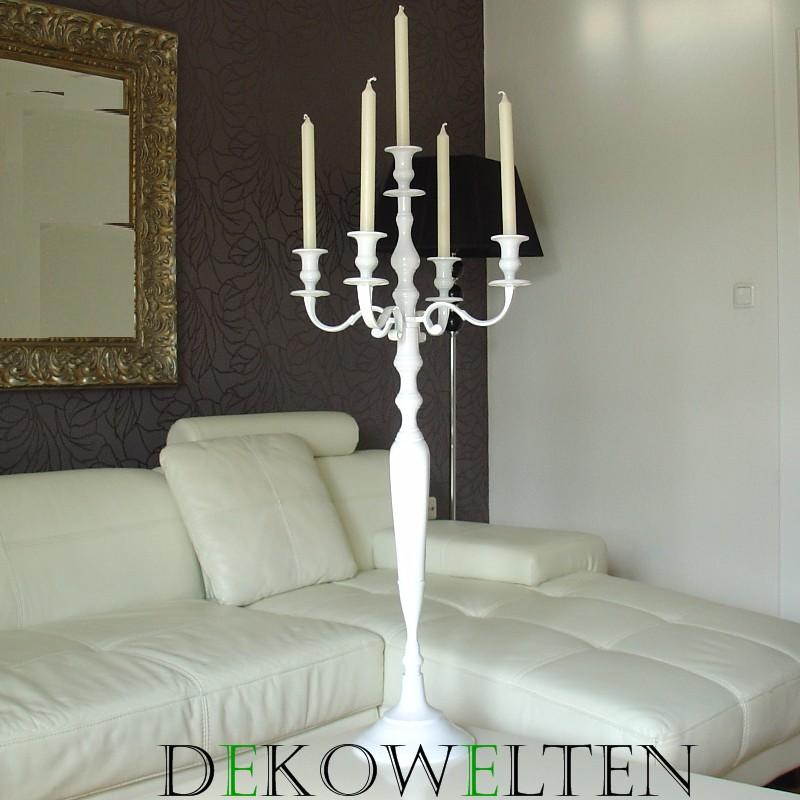 kerzenleuchter kerzenst nder event weiss leuchter 100cm 5 flammig hochzeit ebay. Black Bedroom Furniture Sets. Home Design Ideas